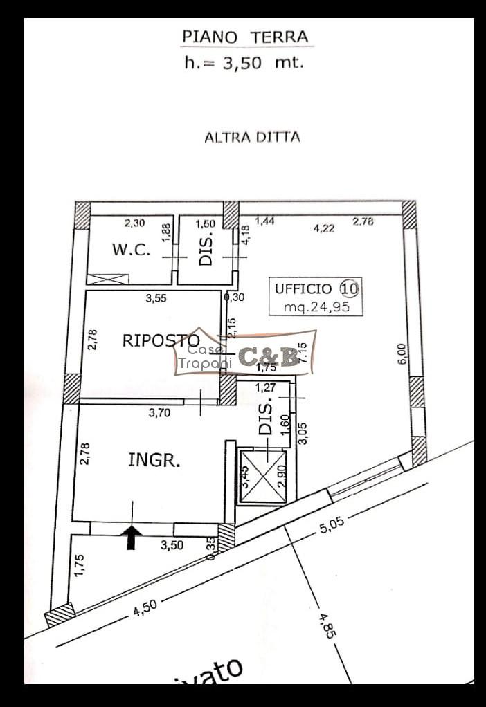 Appartamento uso ufficio in via Manzoni